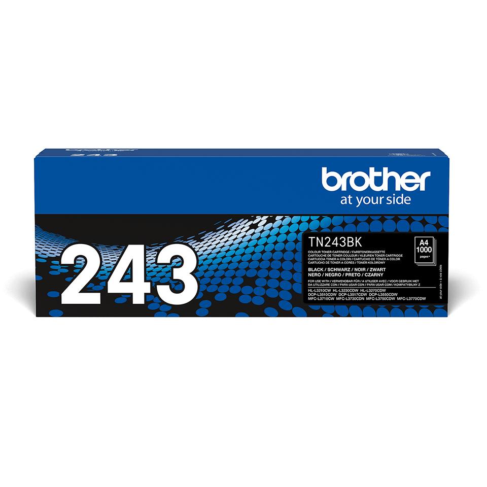 Originali Brother TN-243BK dažų kasetė - juodos spalvos