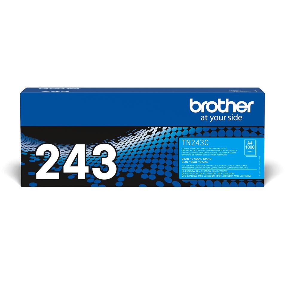 Originali Brother TN-243C dažų kasetė - Cyan spalvos