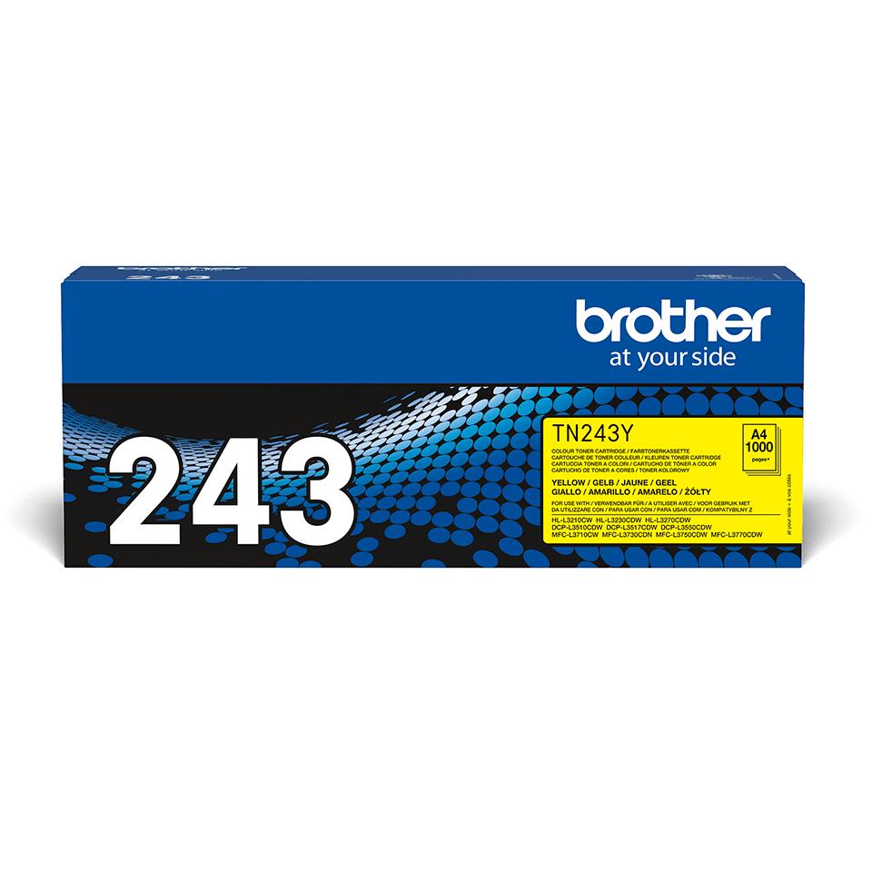 Originali Brother TN-243Y dažų kasetė - Geltonos spalvos