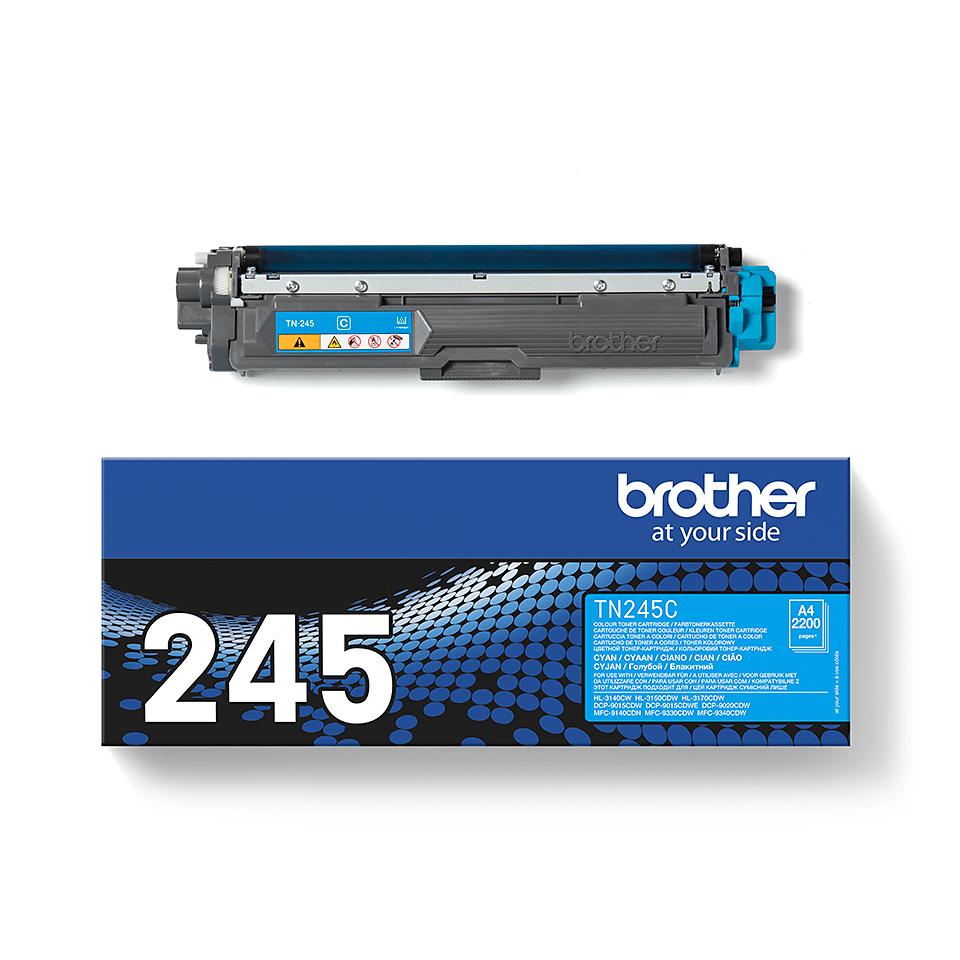 Originali Brother TN245C dažų kasetė – Cyan spalvos 3