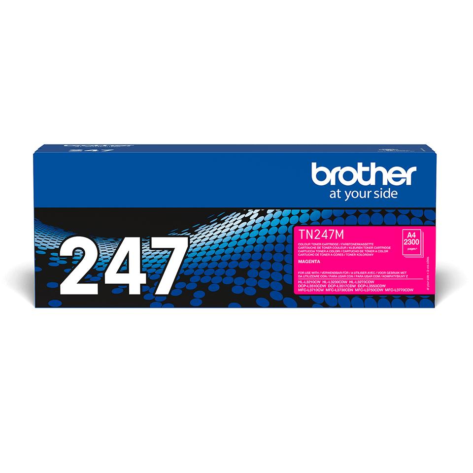 Originali Brother TN-247M dažų kasetė - Magenta spalvos 2