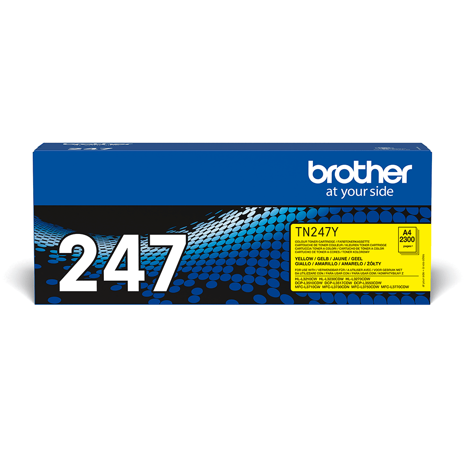 Originali Brother TN-247Y dažų kasetė - geltonos spalvos
