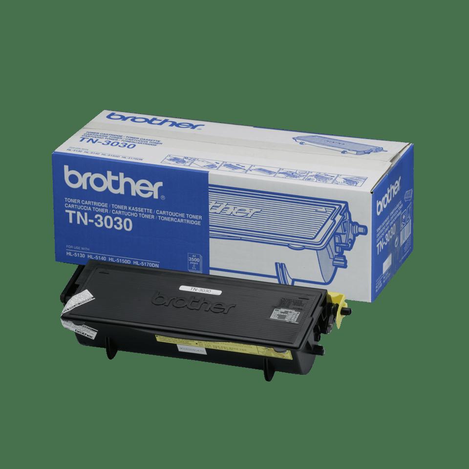 Originali Brother TN3030 didelio našumo dažų kasetė – juodos spalvos