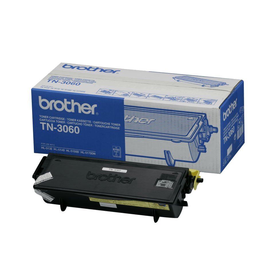 Originali Brother TN3060 didelio našumo dažų kasetė – juodos spalvos