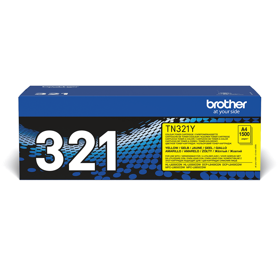 Genuine Brother TN-321Y Toner Cartridge – Yellow