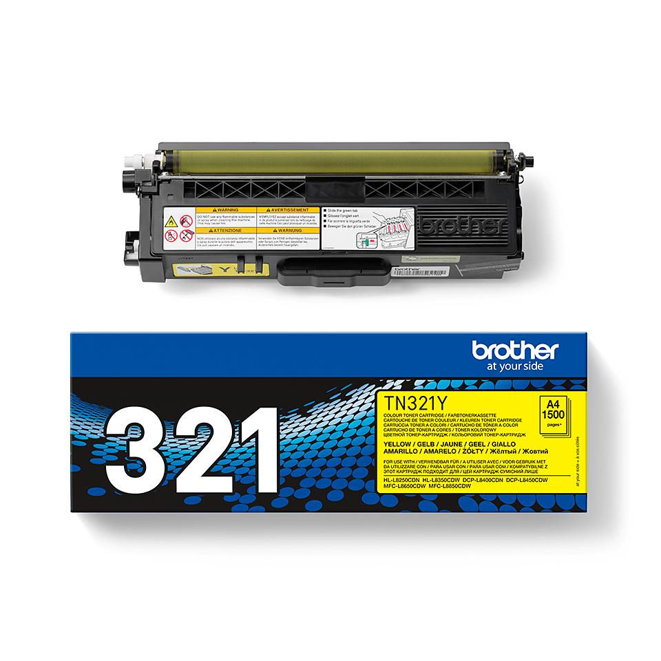 Genuine Brother TN-321Y Toner Cartridge – Yellow 2