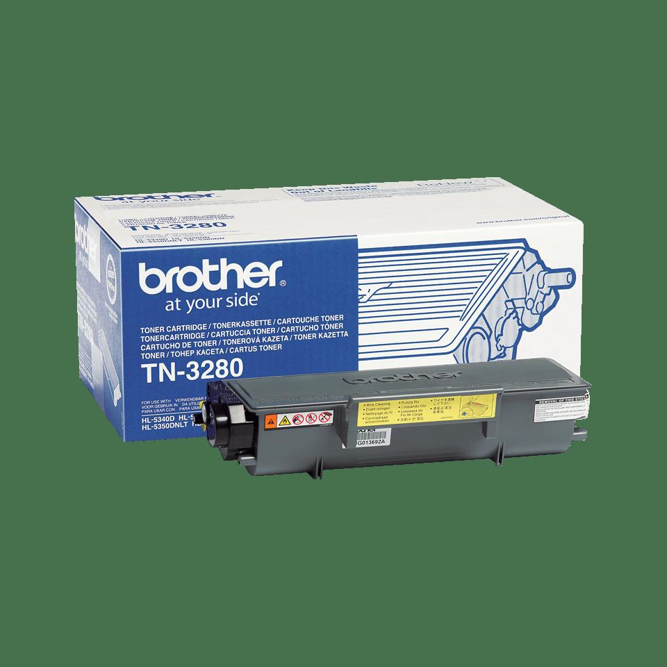 Originali Brother TN3280 didelio našumo dažų kasetė – juodos spalvos