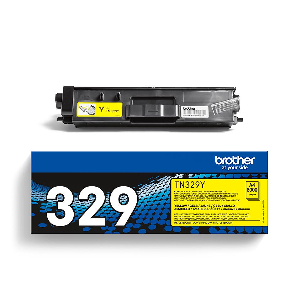 Genuine Brother TN-329Y Toner Cartridge – Yellow 2