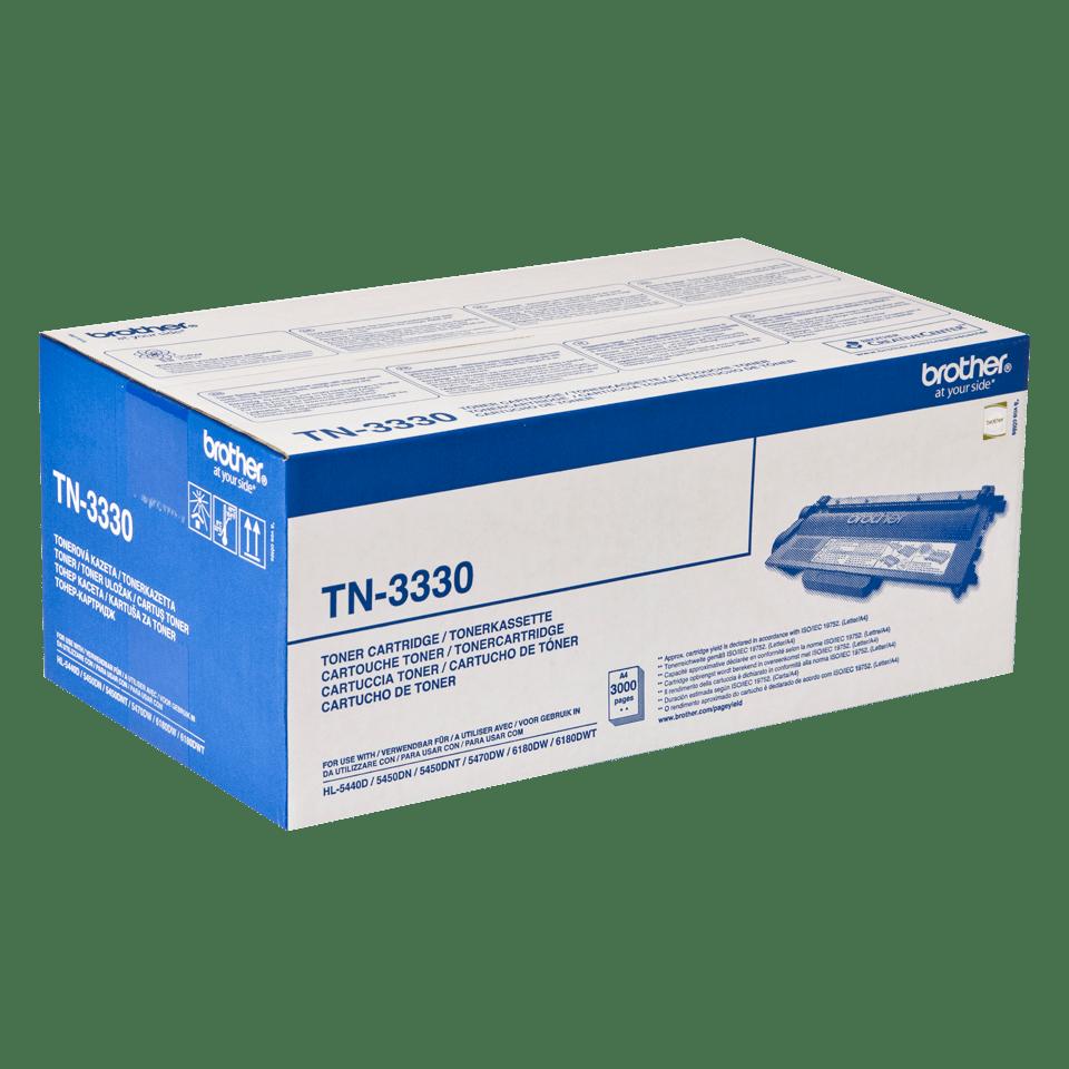 Originali Brother TN3330 dažų kasetė – juodos spalvos