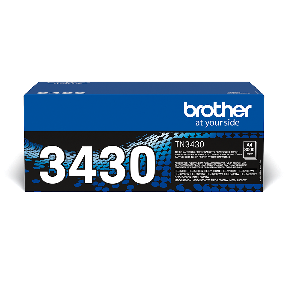 Genuine Brother TN-3430 Toner Cartridge – Black