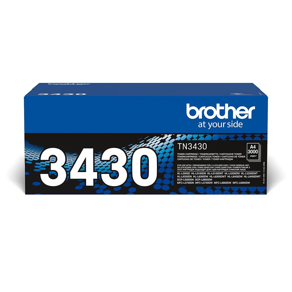 Genuine Brother TN-3430 Toner Cartridge – Black