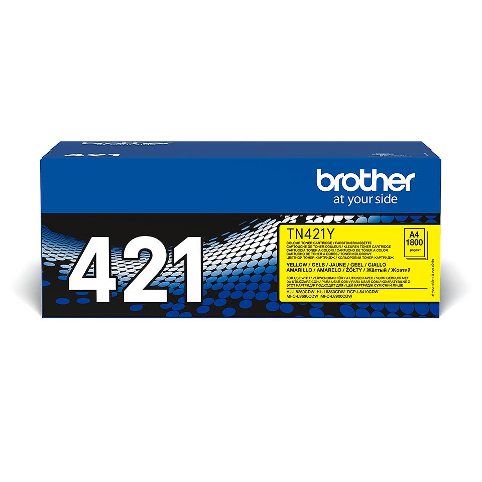 Brother TN-421Y dažų kasetė - Geltonos spalvos 2