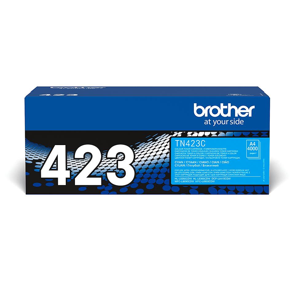 Brother TN-423C dažų kasetė - Cyan spalvos 0