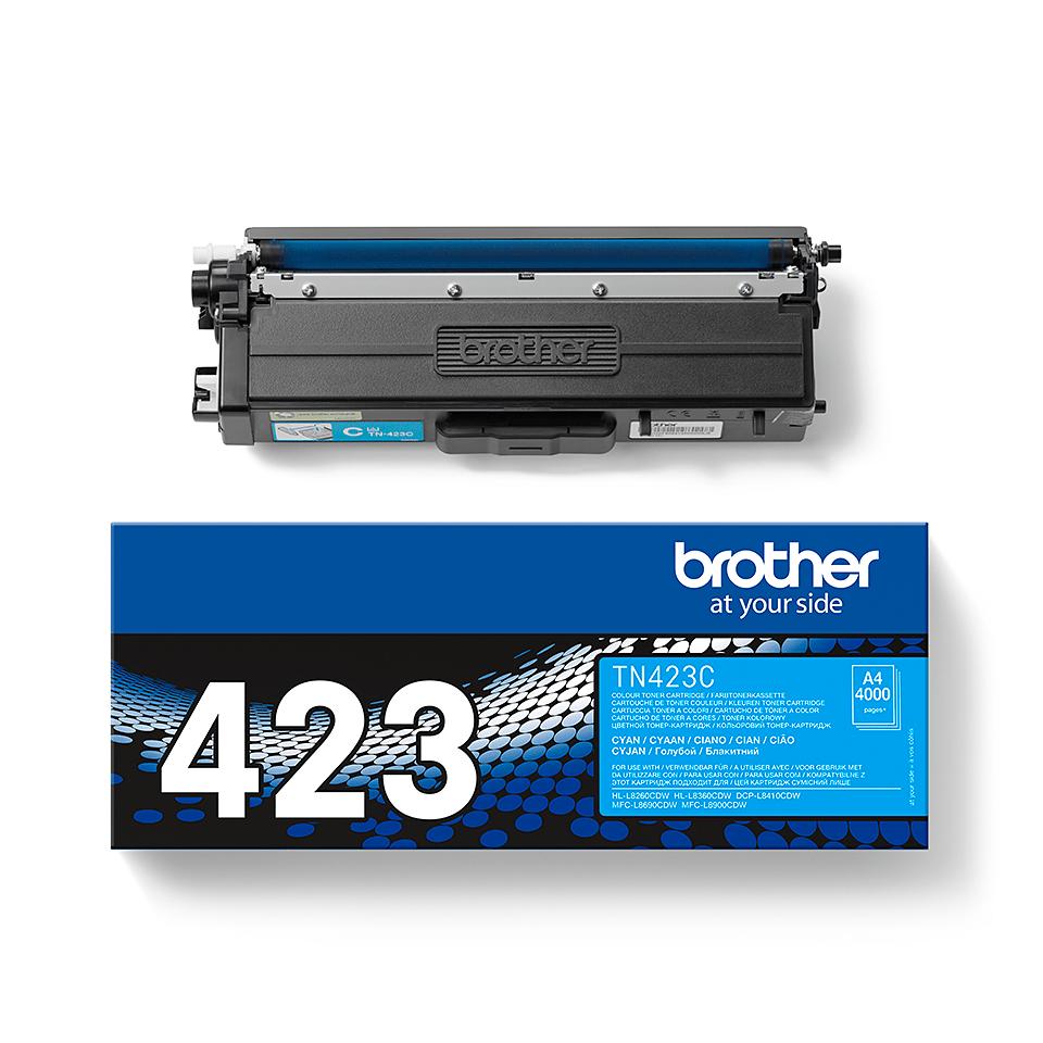 Brother TN-423C dažų kasetė - Cyan spalvos 1