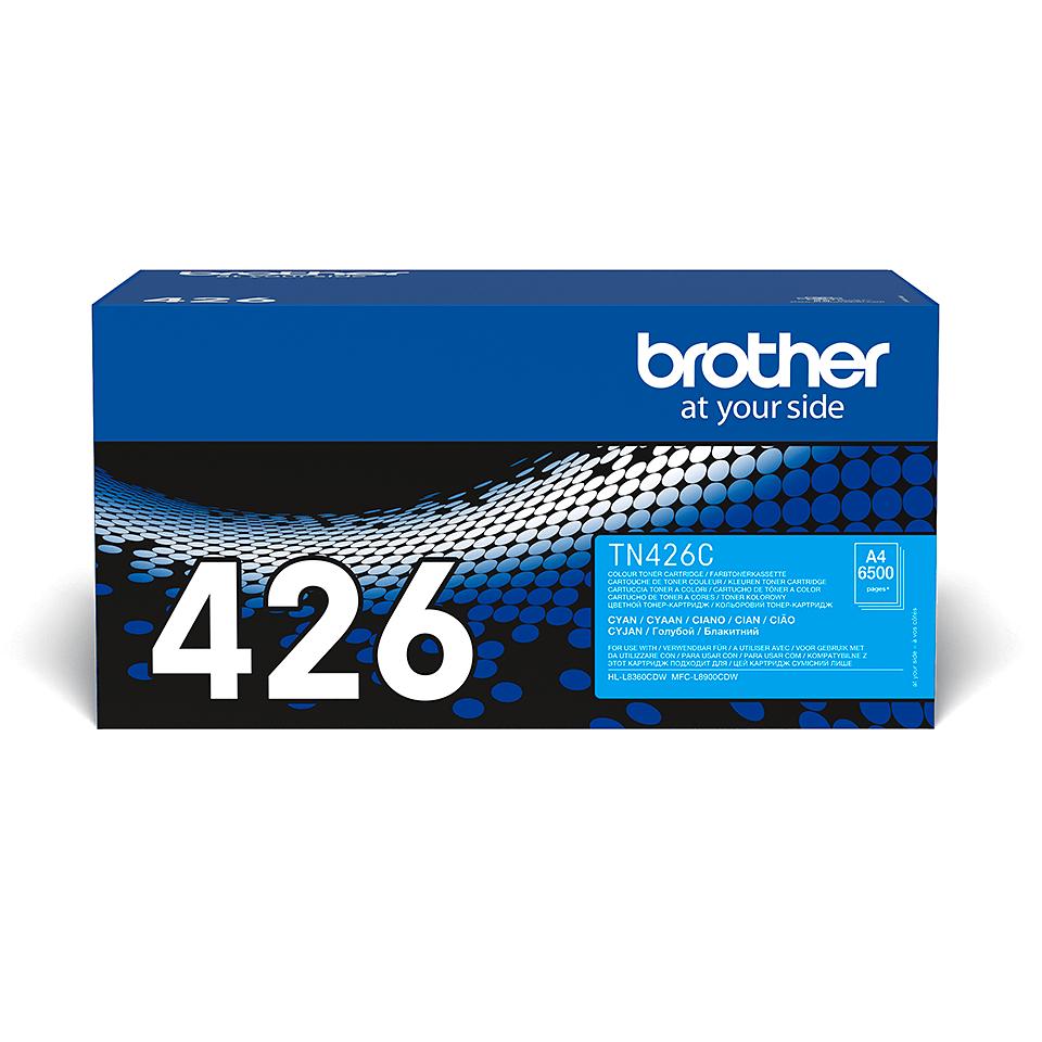 Brother TN-426C dažų kasetė - Cyan spalvos 2