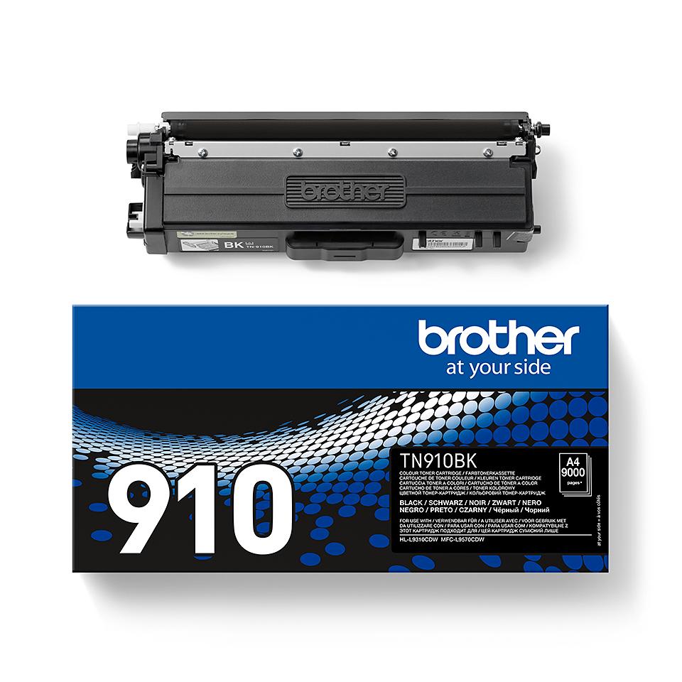 Brother TN-910BK dažų kasetė - Juodos spalvos 2