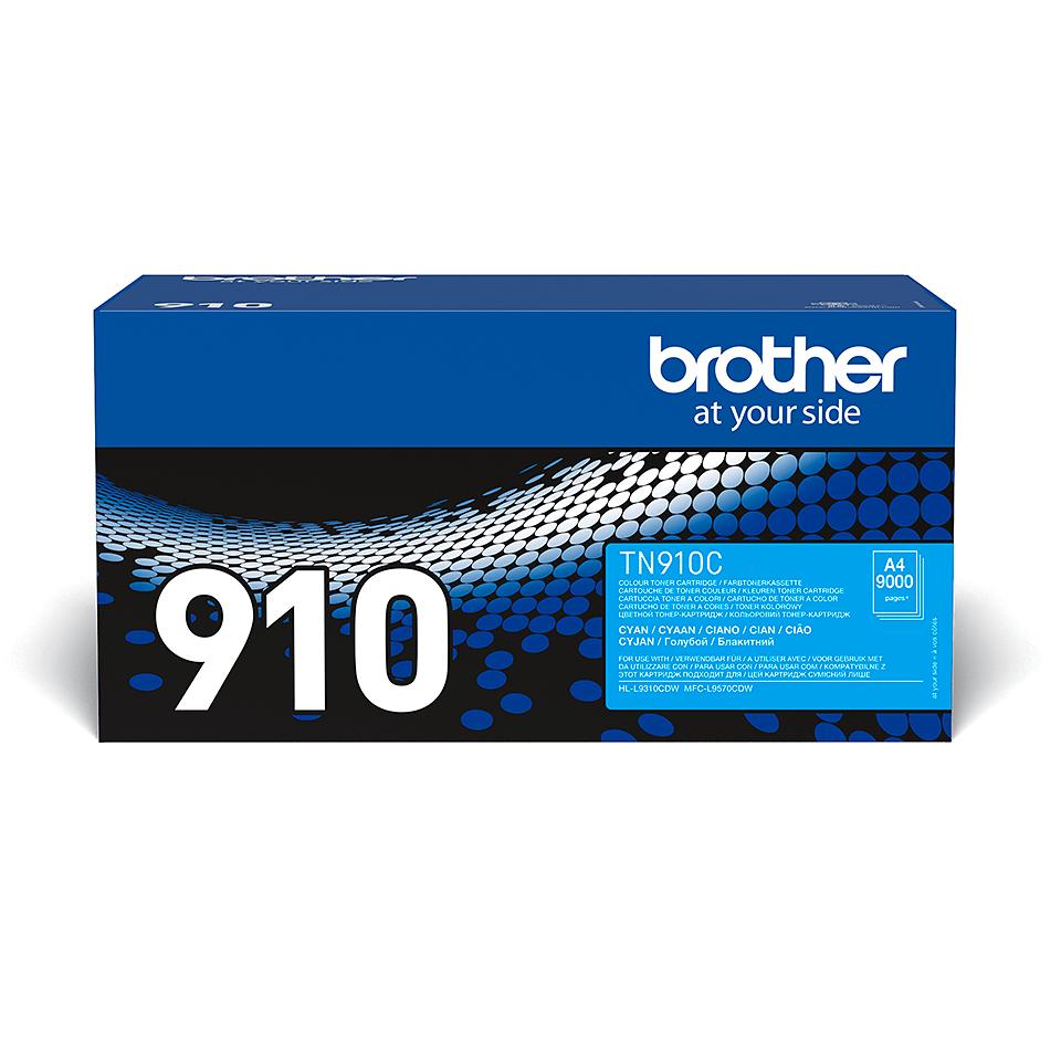 Brother TN-910C dažų kasetė - Cyan spalvos