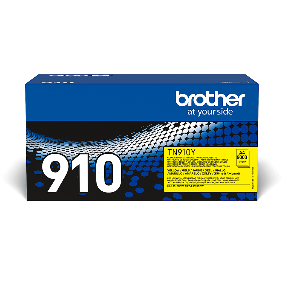 Brother TN-910Y dažų kasetė - geltonos spalvos