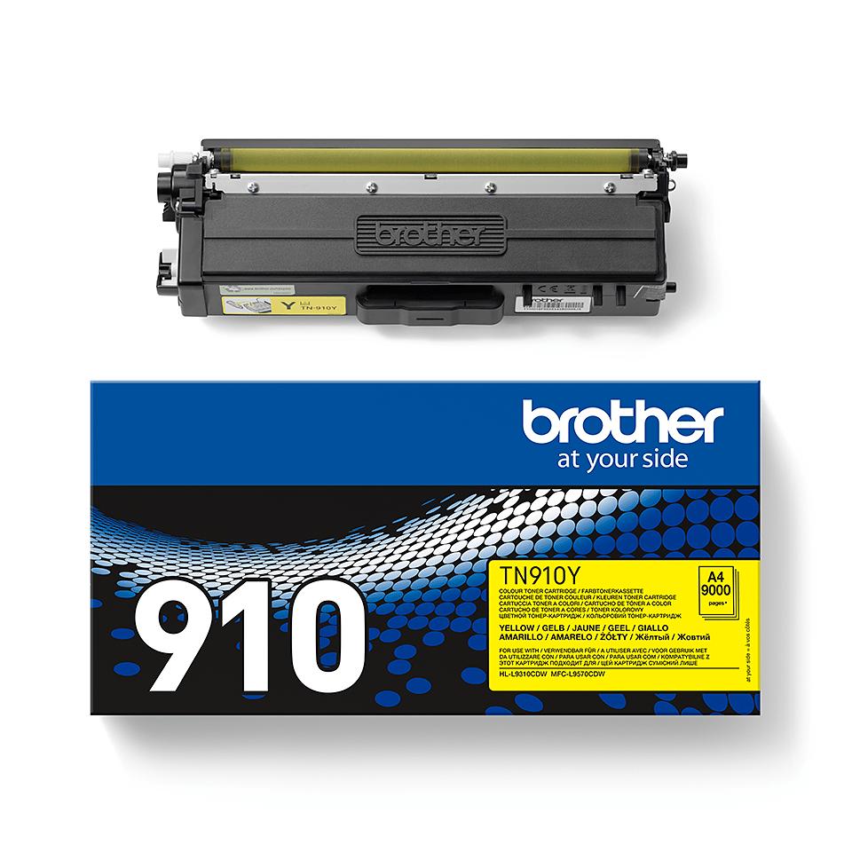 Originali Brother TN910Y dažų kasetė – geltonos spalvos 2