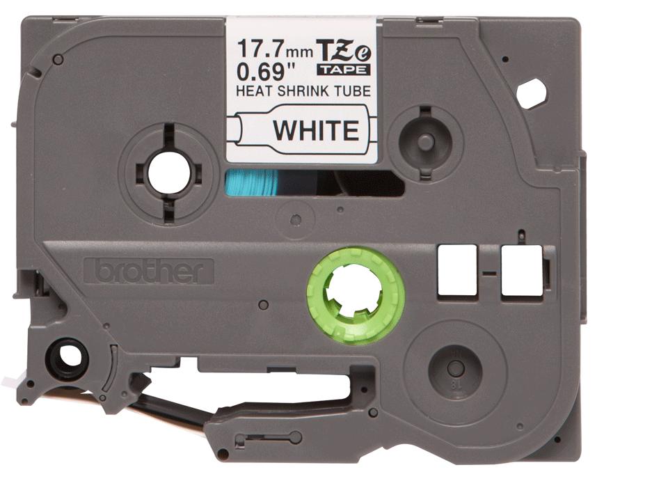 Genuine Brother HSe-241 Heat Shrink Tube Tape Cassette – Black on White, 17.7mm wide