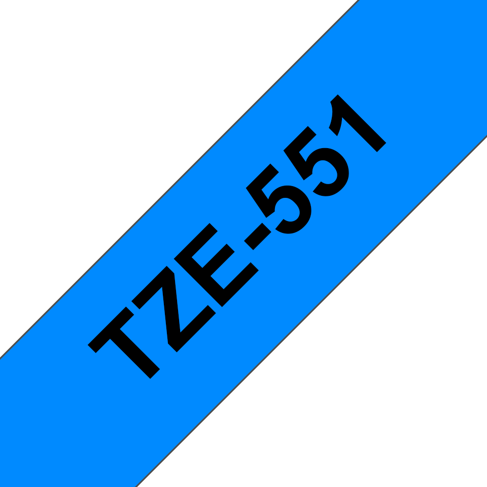 Genuine Brother TZe-551 Labelling Tape Cassette – Black on Blue, 24mm wide