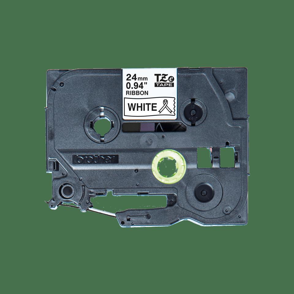 Originali Brother TZe-R251 juostos kasetė – juodos raidės baltame fone, 24 mm pločio