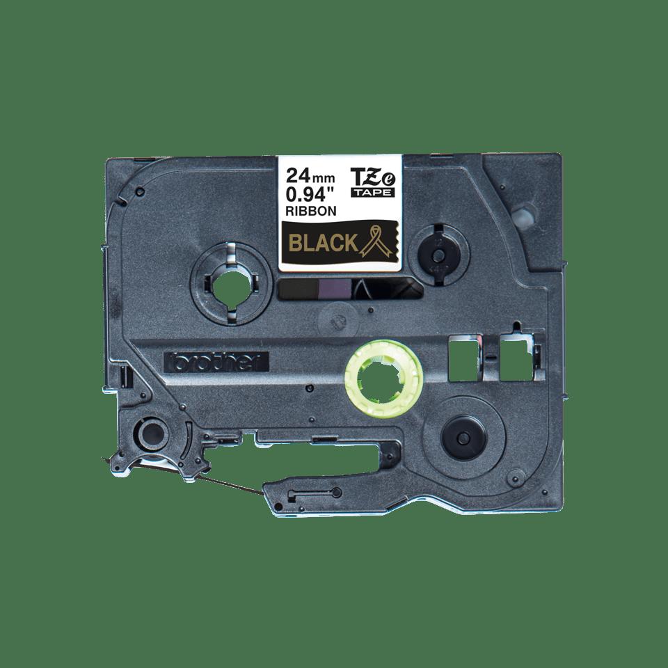 Originali Brother TZe-R354 juostos kasetė – auksinės raidės juodame fone, 24 mm pločio 2