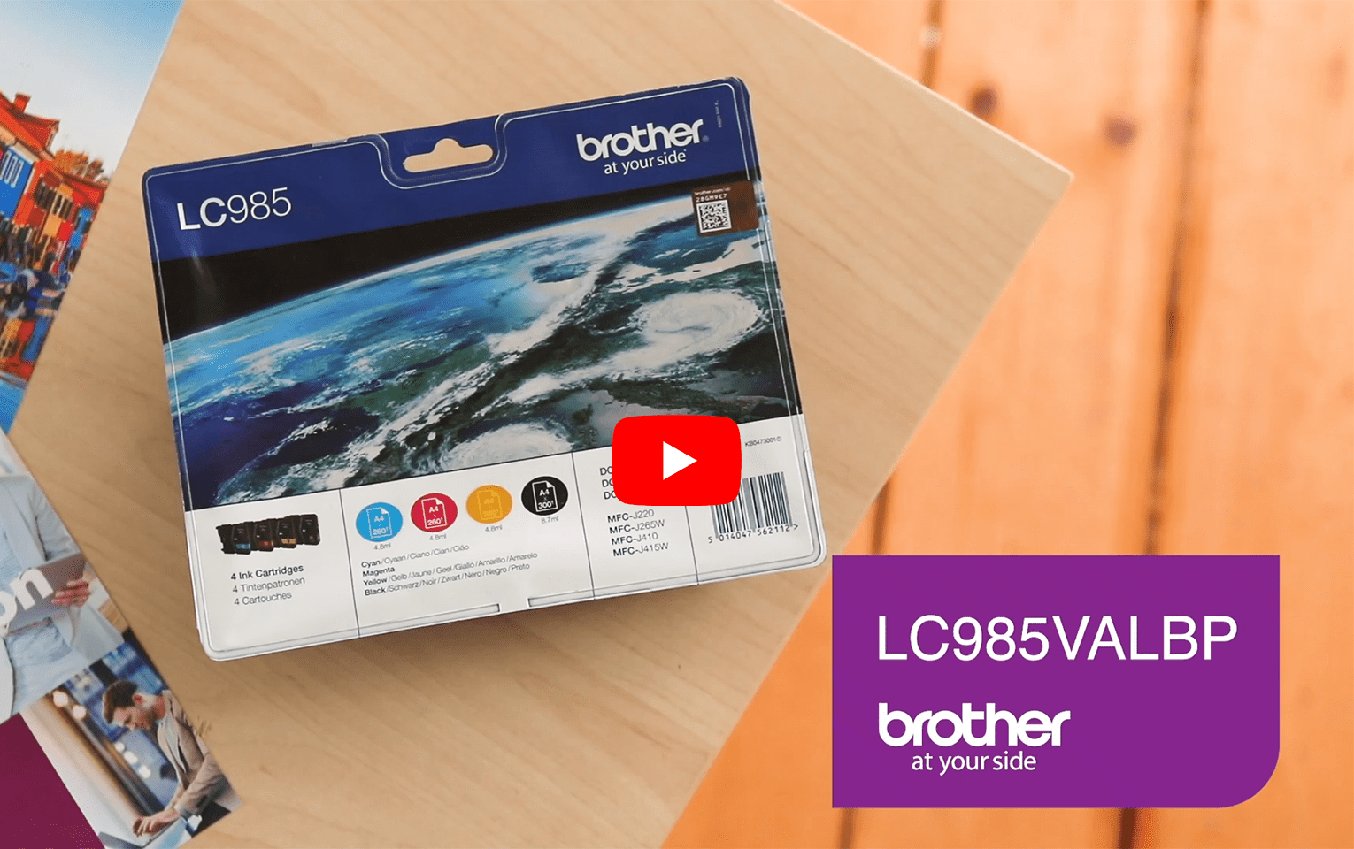 Genuine Brother LC985VALBP Ink Cartridge Multipack  6